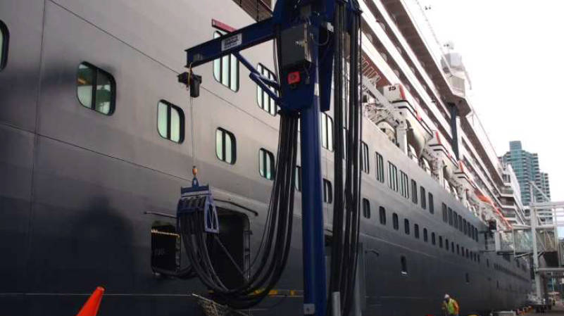 Example cold ironing cruise ship