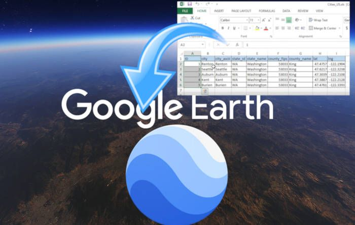 Importare dati geografci in Google Earth